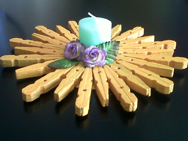 Washing Pegs candle holder