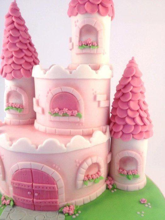 cute princess castle cake
