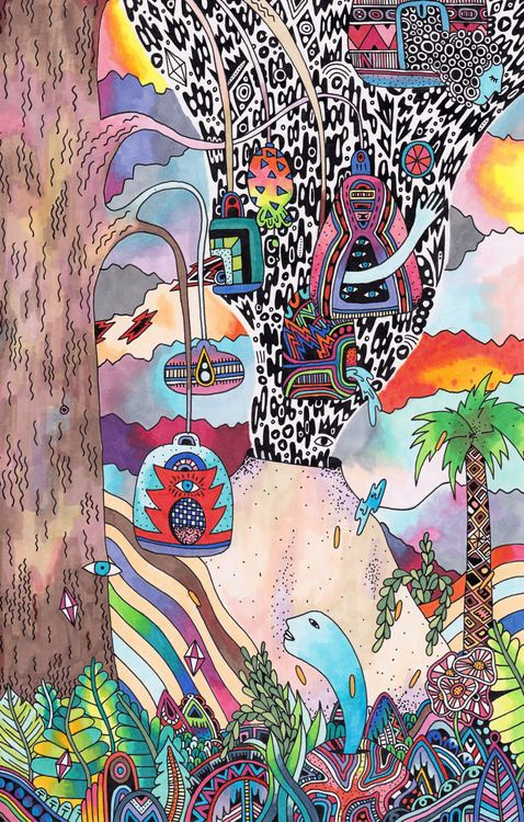 Psychedelic Doodle - by Sophie Roach