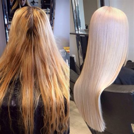 Behind The Chair - Articles perfect platinum blonde long hair