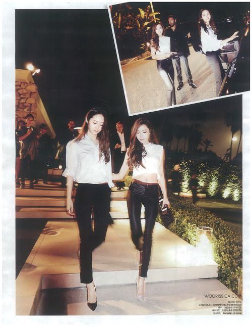 SNSD Jessica and f(x) Krystal - Nylon Magazine June Issue '14