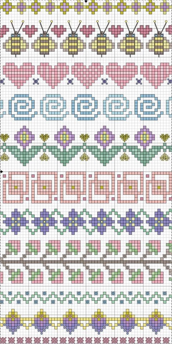 Cross stitch borders/motifs