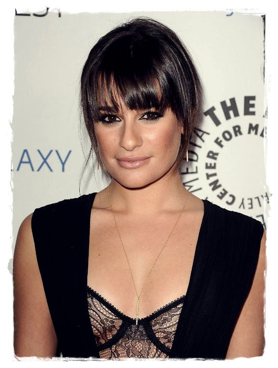 Celebrity Inspired #Hairstyles - Lea Michele Tapered Bang