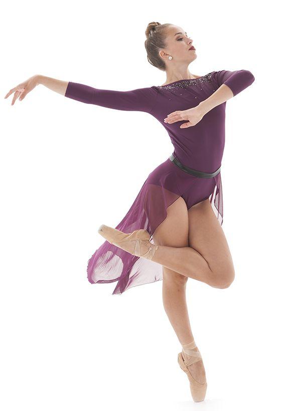Gorgeous dark merlot purple leotard with long, flowy, half mesh skirt. Beauitful dance costume. Ballet. Lyrical, or Contemporary. Octavia Half Skirt