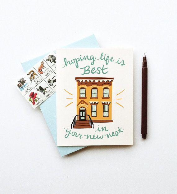 Votre brownstone rouge brun New nid City Home carte par littlelow, $4.50