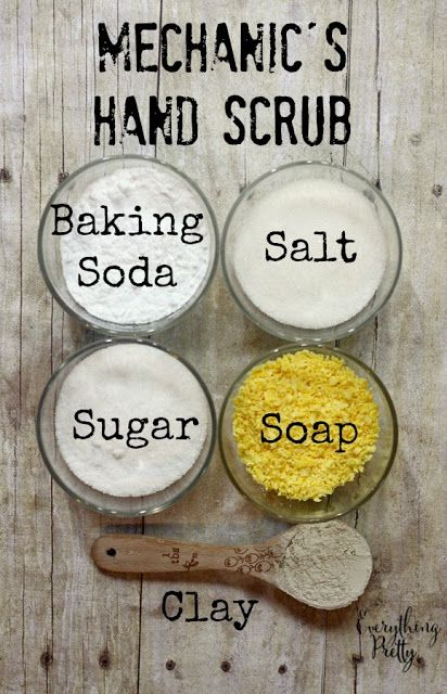 Celebrating the Anchor in My Life - Mechanic's Hand Scrub Recipe + Giveaway | Everything Pretty