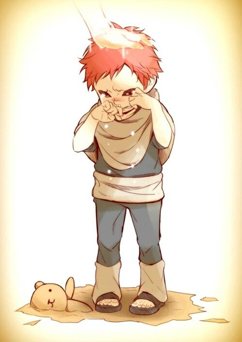 Gaara. He has also a very emotional reason to get Angry and Selfish by nature
