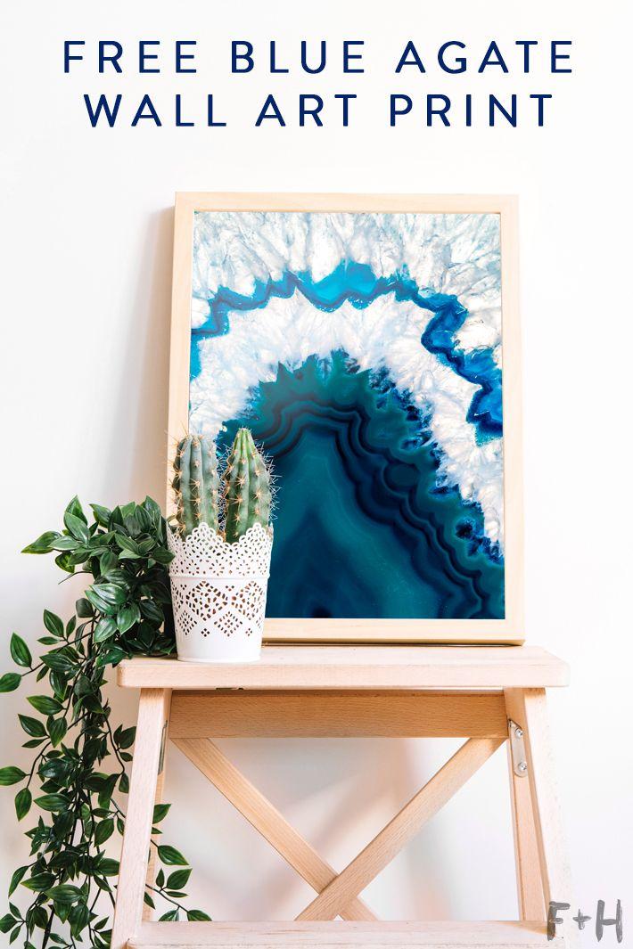 diy agate art framed blue agate slices dans le lakehouse.htm free blue agate wall art free wall art  modern art printables  free blue agate wall art free wall