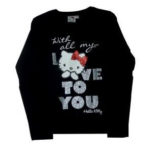 T-shirt Hello Kitty - manches longues - noir - Love to you