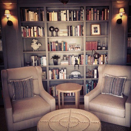 Best Library : This cozy study uses warm colors, keepsakes, and perfectly displayed books to create a truly personal home library that we wouldn't mind mimicking!  Source: Instagram User timothyragan