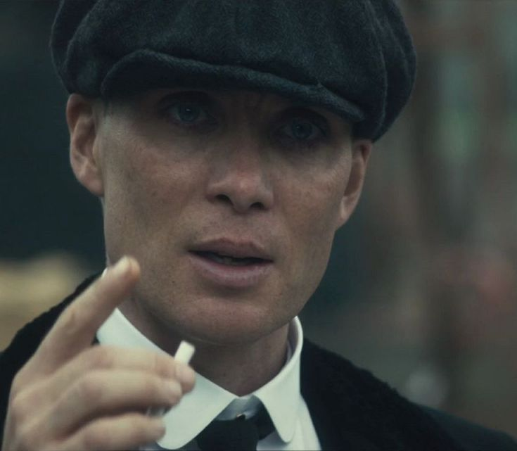 Tommy Shelby having yet another cigarette. Cillian Murphy.