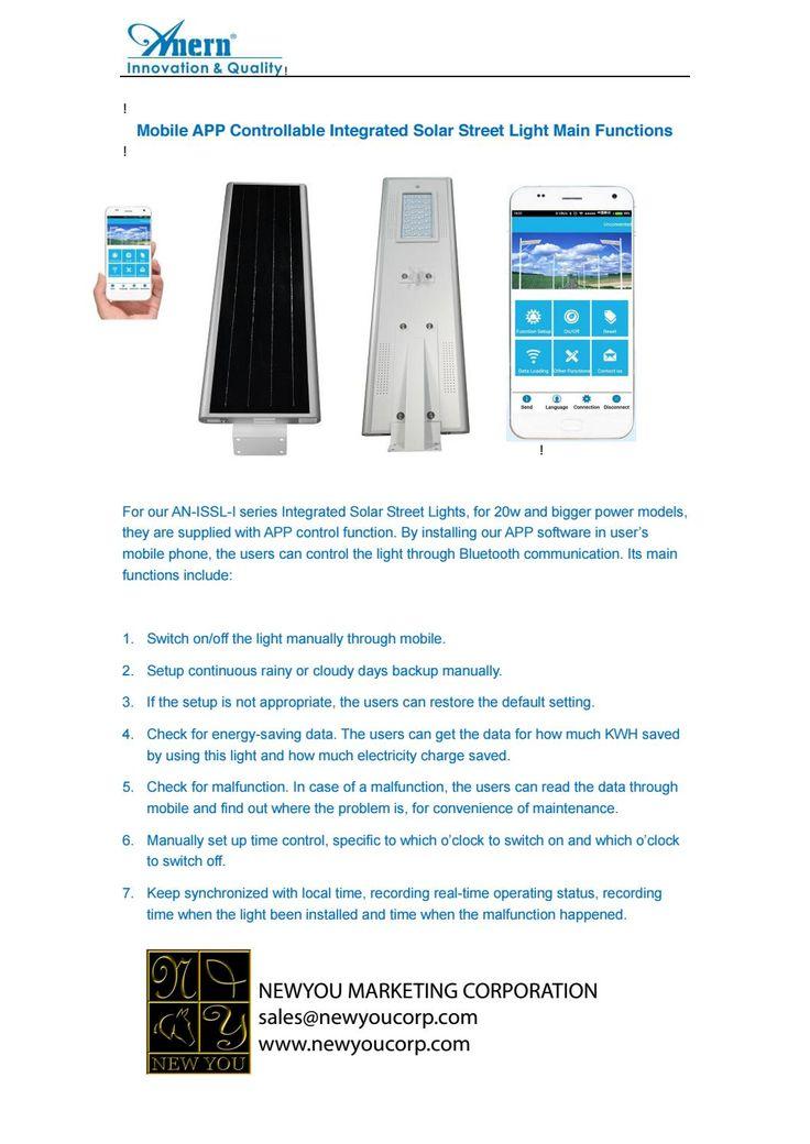 Apps control Solar Lights