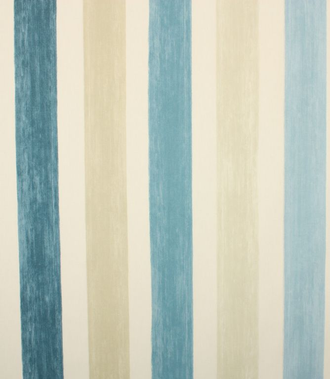 Save 45% on our Indigo Villa Mosa Check / Striped Fabric; perfect for creating Curtains & Blinds.