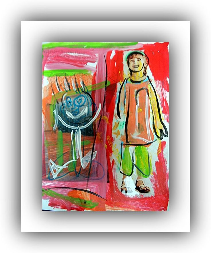 Portrait Kinder Malerei Acryl Foto Pop Art  Direkt vom Künstler  Collage