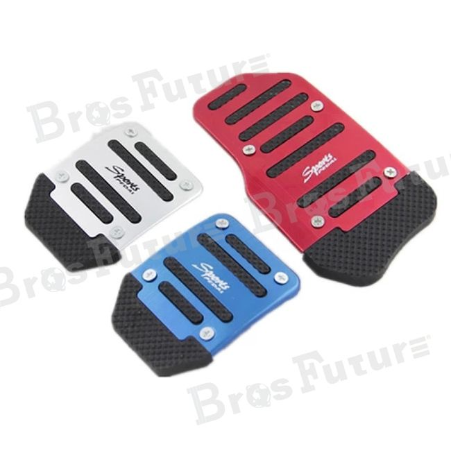 High quality 2014 3 PCS Red Car Universal Aluminum Alloy Anti Slip Non Slip Car Pedal