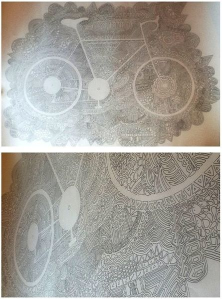 my doodle bike from different angles Nell Beaumont