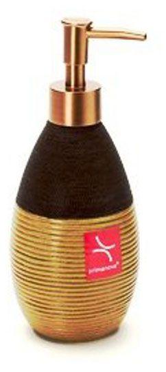 Дозатор для жидкого мыла Rattan Wire, полимер, золотисто-коричневый, 8 х 8 х 20 см