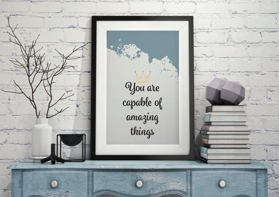 Instant Download 'You are capable of amazing by LittlePenguinStore