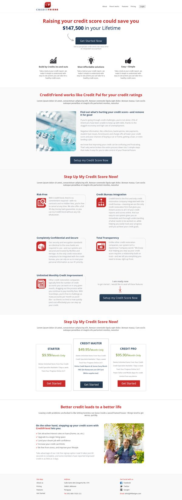 CreditFriend.com Web Design Contest by Ahsan Idrisi, via Behance