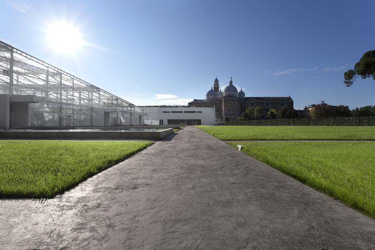 Stamped  #concrete for Padua's Botanical #Gardens www.idealwork.com