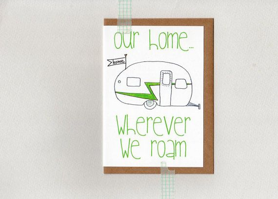 our home wherever we roam . card . mini print . by ThePaisleyFive