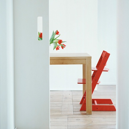 stokke tripp trapp high chair -so cute! orange with natural table