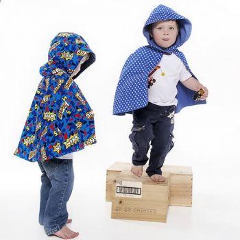 Ted and Toot | Children | Clothing | Super Hero Boys Corduroy Cape (Hip length) - Handmade Emporium