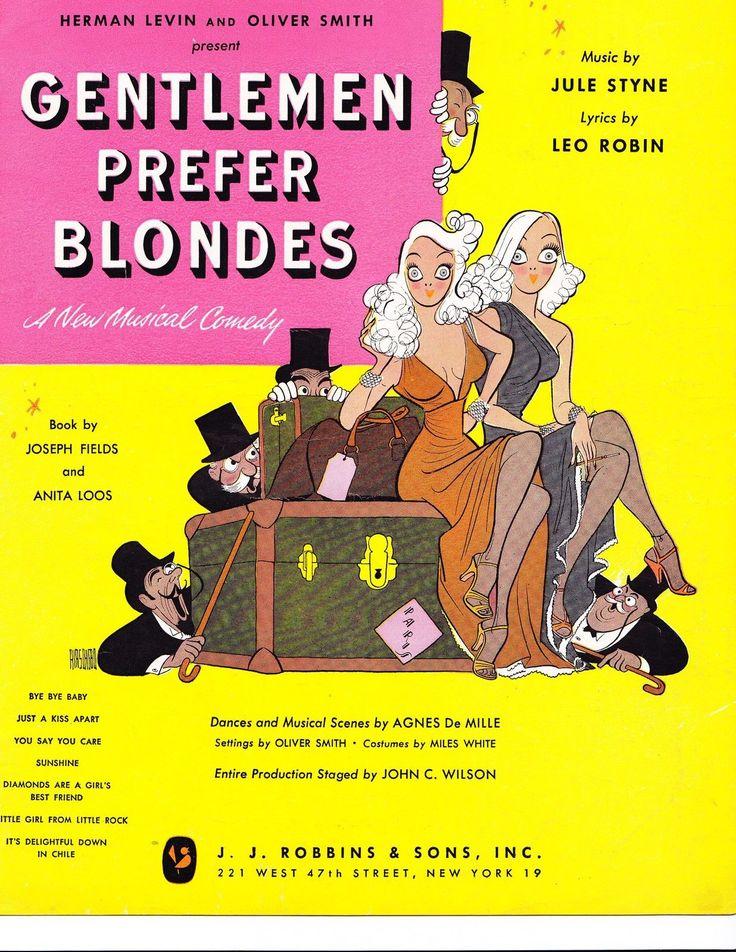 Gentlemen prefer blondes lyrics