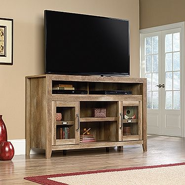 Entertainment Fireplace Credenza - Dakota Pass You can add the fireplace or use it without! We think it looks beautiful in your rustic home regardless.