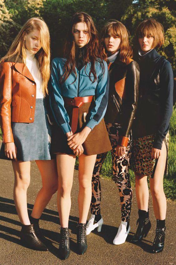 70s style girl gang