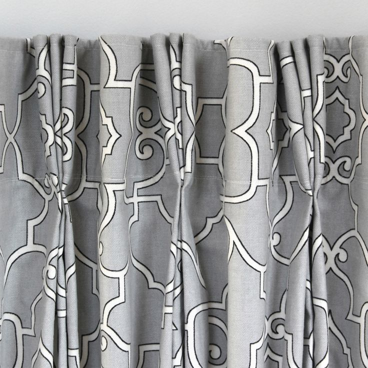 How to Make Pleated Curtains with Pleat Tape & Hooks - Covington Windsor Sterling Fabric