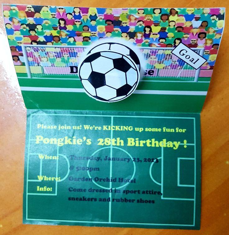 Invitation card/Soccer theme