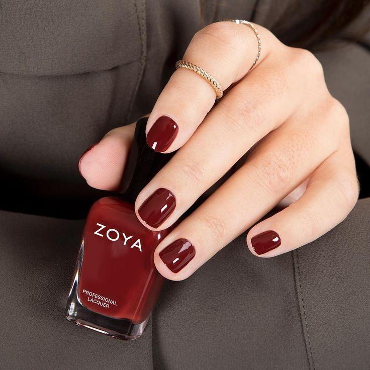 "Zoya Nail Polish on Instagram: ""Feeling our fall look with #ZoyaPepper, a deep…"
