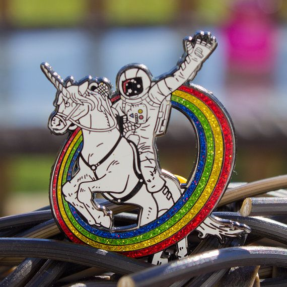 epic combo #23 hatpin v2 glitter edition astronaut riding a unicorn RUNNING LOW!