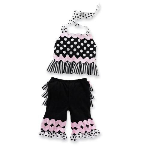 Mud Pie Perfectly Princess Baby Girl Ric Rac Capri Play Set Various Sizes $28.99 Sold at Bay Family Gifts Ebay