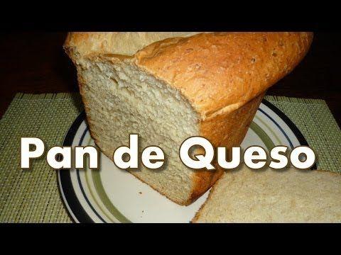 Pan de QUESO en Panificadora (maquina de pan) - YouTube