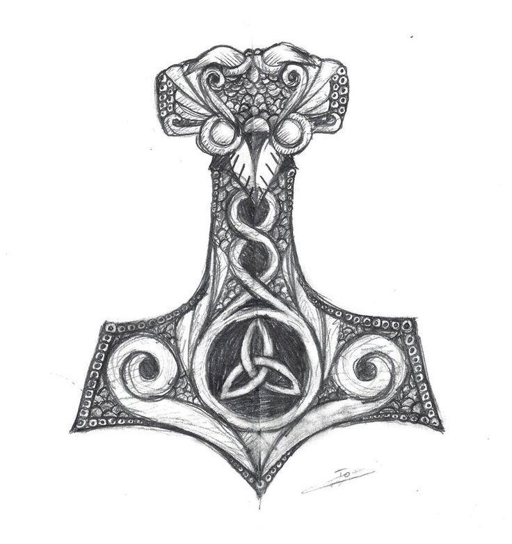 Image result for mjolnir tattoo