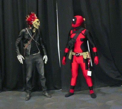 Cosplay Ghost Rider & Cosplay Deadpool