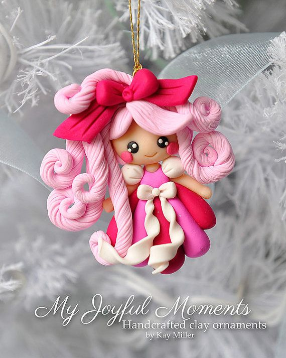Handcrafted Polymer Girl Ornament by Kay Miller on Etsy.