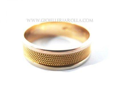 Anello fede sarda - giri di filo ritorto - Filigrana sarda oro - fatto a mano