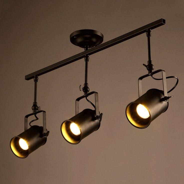 Vintage Ceiling Spot Track Light Mklot Adjustable 3 Light