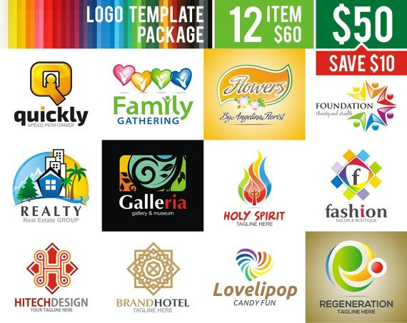 25% OFF  Unlimited time  Logo Templates Package  by AcongStudio