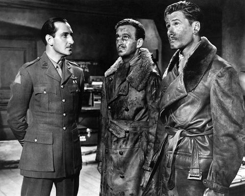 The Dawn Patrol (1938) Basil Rathbone, David Niven and Errol Flynn