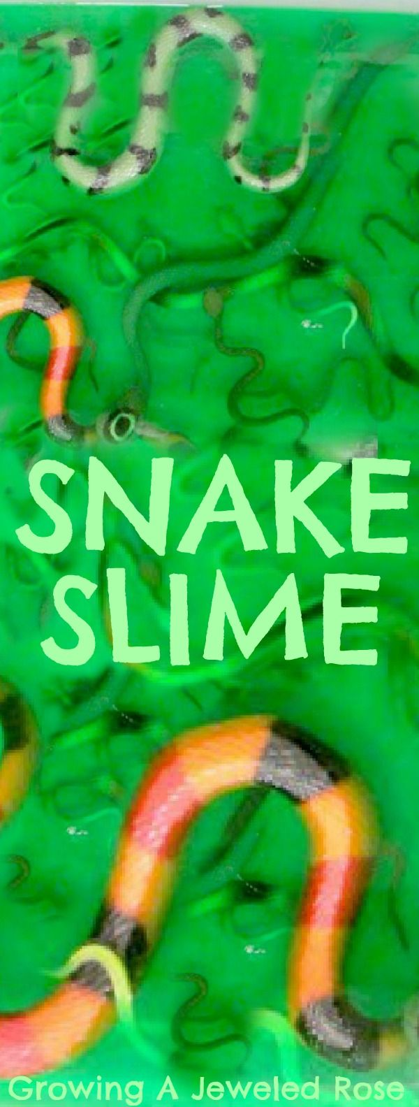 Snake Slime Sensory Play!  Ooey, Gooey, and Oh so FUN!