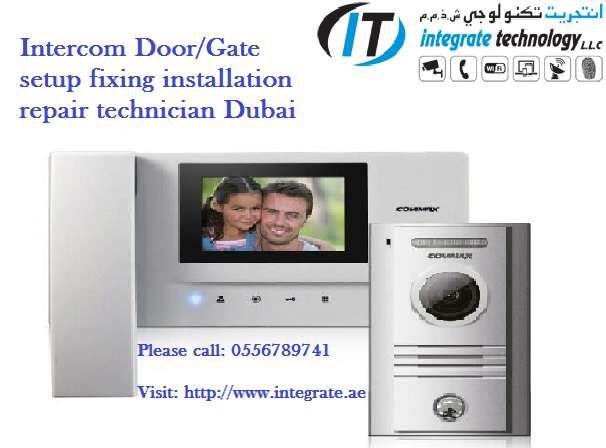 Dubai Intercom System Repair IP video audio intercom voice camera setup Fixing – 0556789741 We offer complete Intercom system Installation Setup Repair F