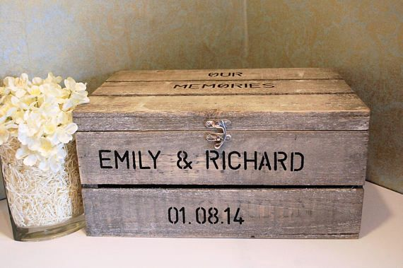 Rustic wooden crate which is hand finished allowing to a unique item to me made just for you  Suitable for any event such as weddings, engagements, anniversaries, gifts for yourself or a friend and even as a dog toy box that you can close when they have finished for the day.  The