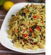 Moroccan chickpea and couscous salad - this is AMAZING! Just made it tonight for dinner. A must try! ~jenn