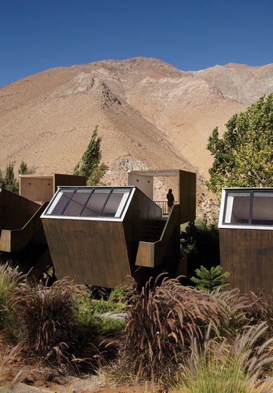 Elqui Domos Astronomical Hotel by Rodrigo Duque Motta in Pisco Elqui Chile. #architecture