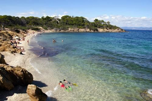 French Riviera's Best Beaches: 5 Med Escapes    By Anna E. Brooke    The coastline from the Hyères to Nice is lengthy and varied enough to satisfy a range of beachcombers -- whether you seek solace and tranquility in a secluded cove, wild nature, family activities, or a hotspot in which to see and be seen. The island of Corsica, too, is famed for its shorelines. Access to the listed beaches is free.     Photo Caption: The sandy beaches of Ile de Porquerolles in Hyéres, France.
