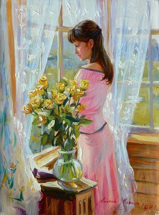 Текст песни Эта женщина в окне - Окуджава Булат, Из фильма Законный брак